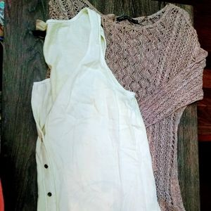 Two neutral colored tops.